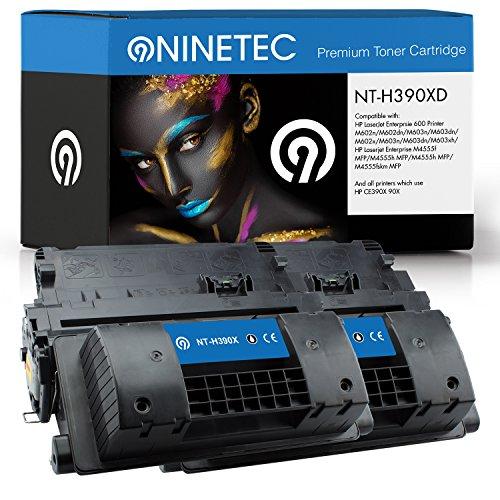 Ninetec NT-H390X, toner compatibile con stampanti HP CE390X (2) Doppelpack 2x Toner Black nero
