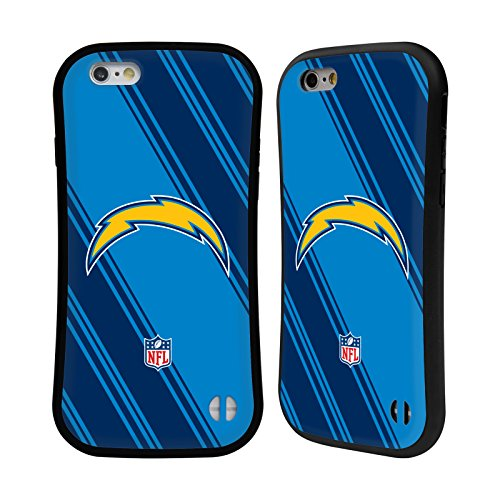Head Case Designs Oficial NFL Rayas 2017/18 Los Angeles Chargers Carcasa híbrida Compatible con Apple iPhone 6 / iPhone 6s