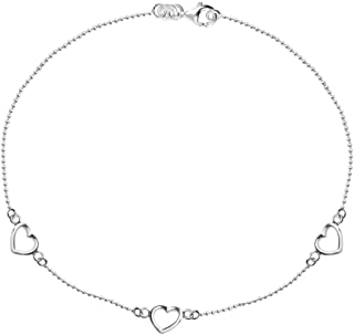LeCalla Sterling Silver Jewelry Anklet for Women Teen