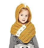 Sumolux - Gorro para niños, diseño de gato, de punto, con bufanda a juego, para otoño invierno, Talla única, yellow(3-10years old)