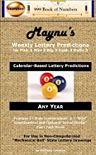 Maynu's Weekly Lottery Predictions: for Pick 3 Win 3 Big 3 Cash 3 Daily 3