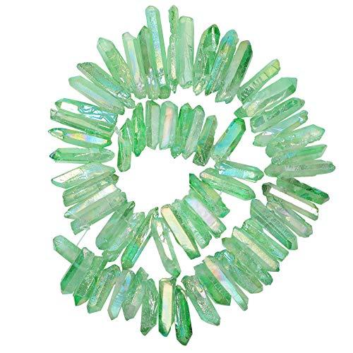 Amogeeli Pequeñas perlas de cristal con revestimiento de ti