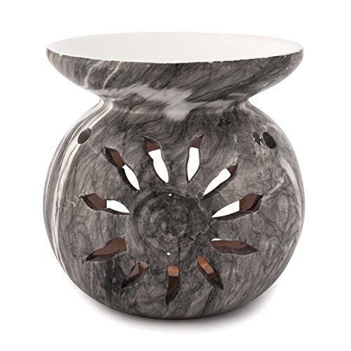pajoma Duftlampe ''Mamor'' aus Keramik, Höhe 11 cm, Grau