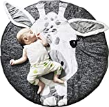 Product Image of the GABWE Round Giraffe Rug Carpet Cotton for Kids Floor Play mats Kids Room...