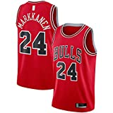 Populäre Celebrity Trikots Swingman Jersey Red Team Uniform ärmellos #24#Name? Herren Replica...