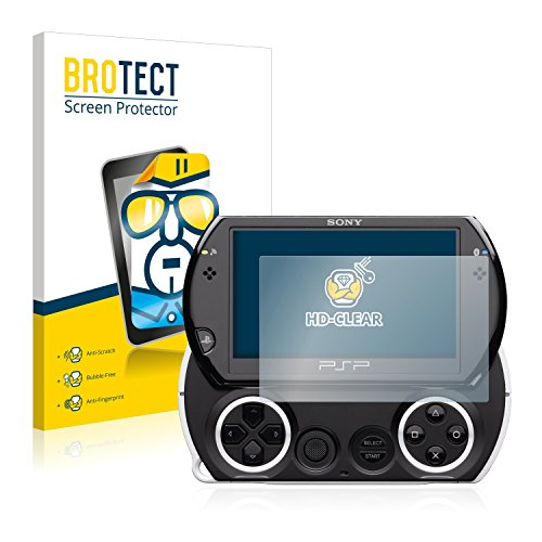 BROTECT Schutzfolie kompatibel mit Sony PSP Go (2 Stück) klare Bildschirmschutz-Folie