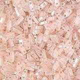 Seed Beads-5mm 1/4 Cut Tila-519 Pink Pearl Ceylon-Miyuki-7 Grams