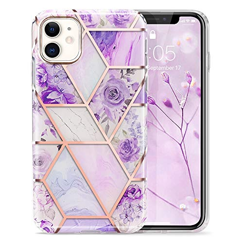 Lchullelchulle For Iphone 11 Pro Max Geometric Marble Case Flower Design For Girls Women Shiny Rose Gold Streaks Glossy Clear Bumper Soft Tpu Rubber Shockproof Cover For Iphone 11 Pro Max Purple Dailymail