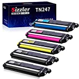 Sizzler Compatible TN247 TN243 Toner Cartridge Replacement for Brother TN-247 TN-243 for HL-L3210CW HL-L3230CDW HL-L3270CDW MFC-L3710CW MFC-L3730CDN MFC-L3750CDW MFC-L3770CDW DCP-L3510CDW DCP-L3550CDW