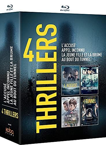Coffret 4 Thrillers : L'ACCUSÉ-Appel Inconnu-LA Jeune Fille ET LA Brume-AU Bout du Tunnel [Blu-Ray]