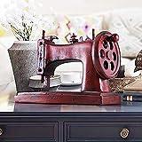 XFSE Decoración para el hogar Nostálgica Máquina de coser Modelo Decoración para el Hogar Accesorios Creativos, Modernos Prop Bar Salón Retro Pequeña Decoración 29,5 * 16,5 * 21,5 cm (Color: Rojo)