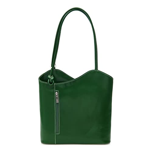 47539782e6763 BHBS Womens Leather Hand Made Shoulder or Backpack Handbag - Made In Italy  Real Leather Smooth