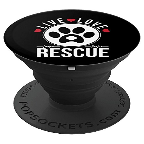 Live Love Rescue Animal Adoption Pet PopSockets Grip and Stand for Phones and Tablets