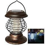 BonTime Lámpara de Control de Mosquitos Solar portátil Fly Killer Lámpara Impermeable Repelente...