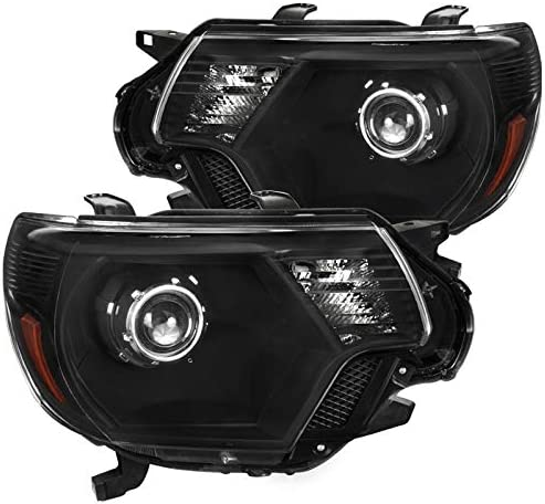 Spec D Tuning Black Retro Style Projector Headlights Head Lamps for 2012 2015 Toyota Tacoma product image