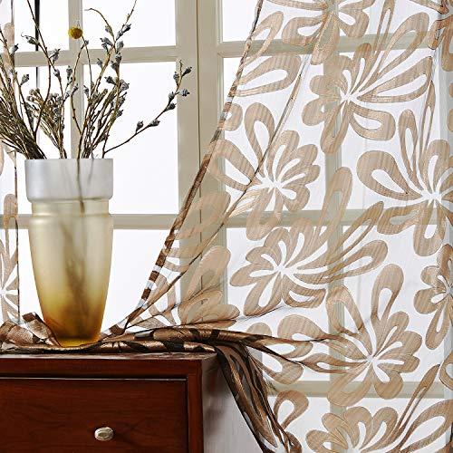 Top Finel Cortinas de Salon Dormitorio Moderno Cocina Visillo Transparente de tratamientos...