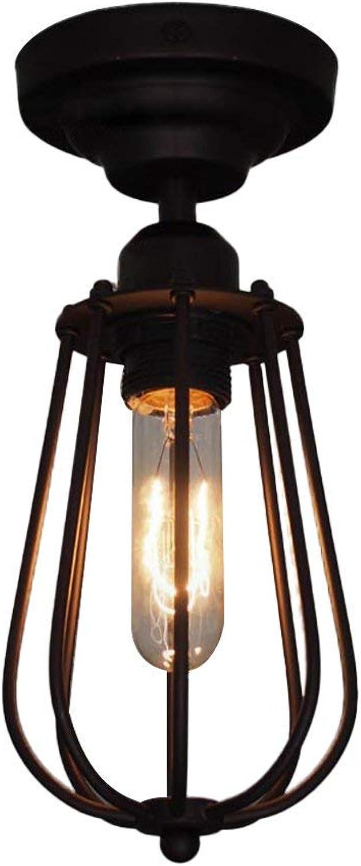 BAIF Deckenleuchte Vintage, Loft Eisen Kunst Bekleidungsgeschft Korridor Gang Dekoration Eisennetz E27 Lichtquelle Kann Drehwinkel (Gre  12  30 cm)