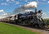 wandmotiv24 Fototapete Dampflok Lokomotive Rauch M 250 x 175 cm - 5 Teile Fototapeten, Wandbild, Motivtapeten, Vlies-Tapeten Zug, Gleise, Dampf M0516