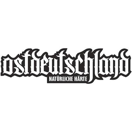 Auto Aufkleber Sticker Ostdeutschland Geplottet Weiß Auto