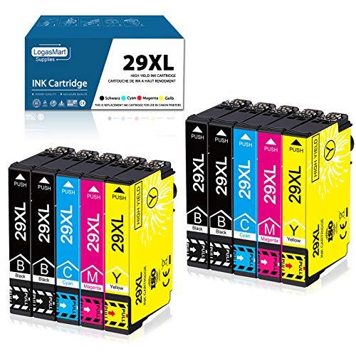 LogasMart 29XL Druckerpatronen für Epson 29 XL Tintenpatronen Ersatz mit Epson Expression Home XP-342 XP-245 XP-442 XP-235 XP-335 XP-432 XP-435 XP-332 XP-345 XP-247 XP-445, 10 Pack