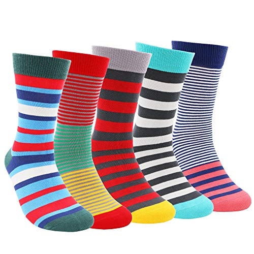 COCO TOE® Chaussettes Homme Fantaisie,Lot de Chaussettes pour Hommes Coton Fantaisie Imprimé Socks Multicolore,Cadeau Homme (One Size, SOCK04)