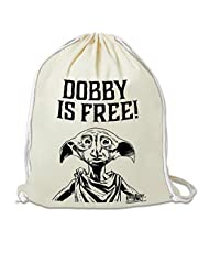 LOGOSHIRT - Harry Potter - Dobby Is Free - Gymtas - Sporttas - beige - Gelicentieerd origineel ontwerp