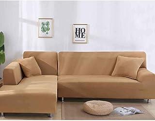 NO BRAND Funda de Sofa Elástica Chaise Longue Brazo Largo Derecho Funda Cubre Sofá Modelo Acolchado Diseñada de Forma L (C...