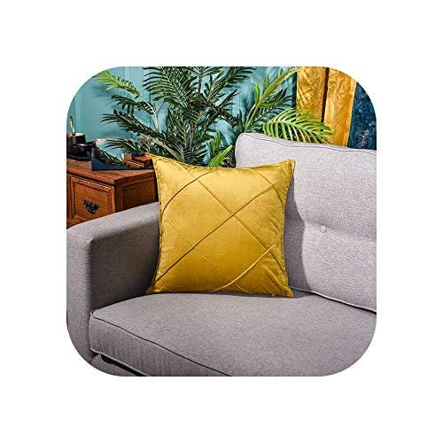 Pillowcase for Throw Pillows| Embroidery Plaid Geometric Color Blue Velvet Cushion Cover Pillow Cover Pillowcase Home Decorative Sofa Throw Pillow-O-30x50cm