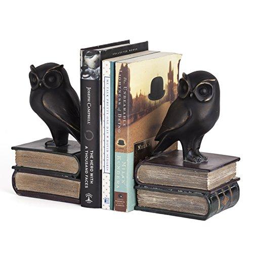 Danya B. Owl on Books Bookend Set