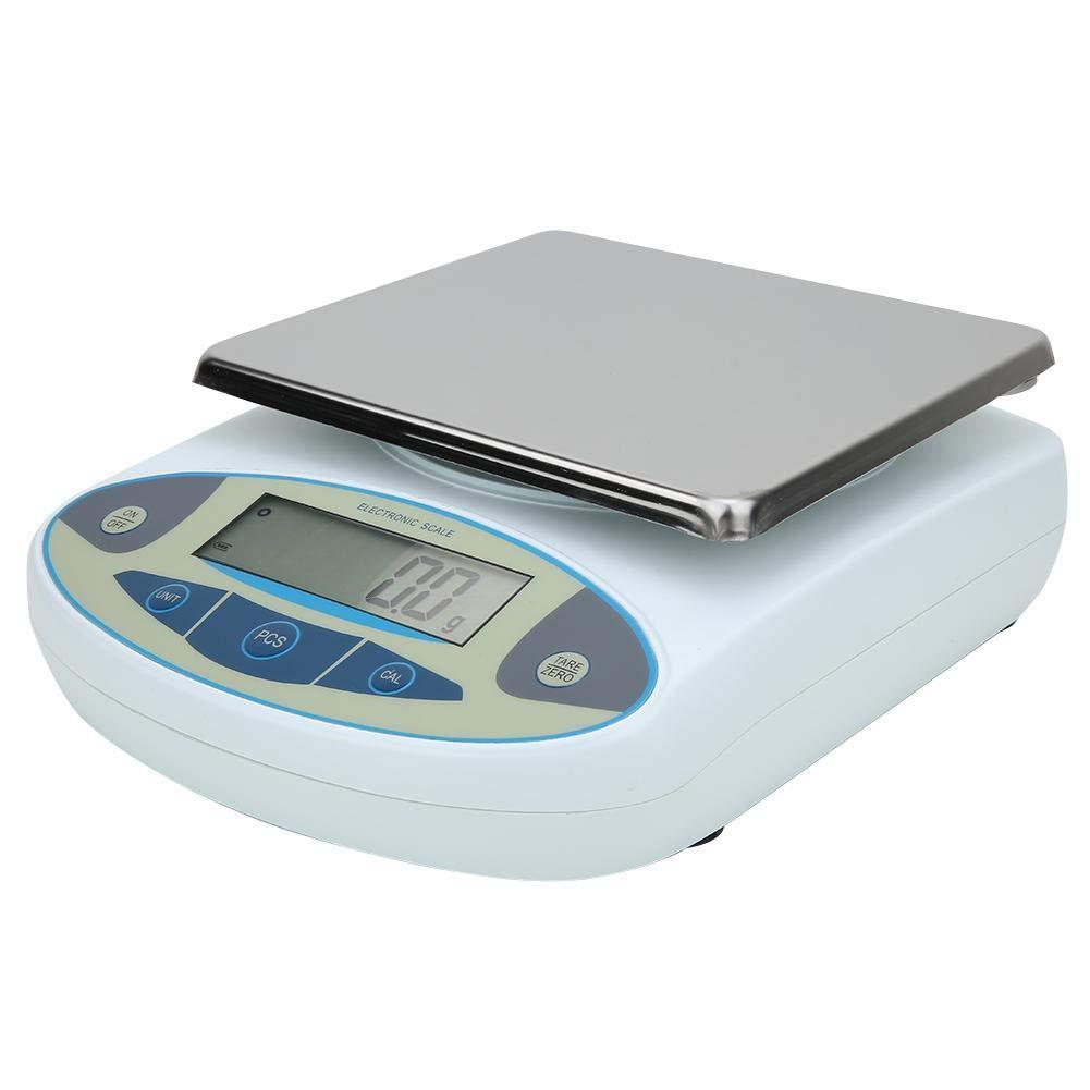 Báscula analítica de laboratorio de balanza electrónica de alto rendimiento 10000g / 0,1g para uso en laboratorio(Normativas europeas, Transl)