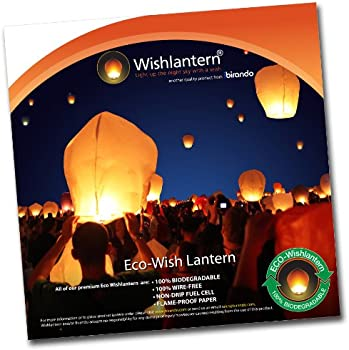 Eco White Sky Lanterns (Pack of 10)