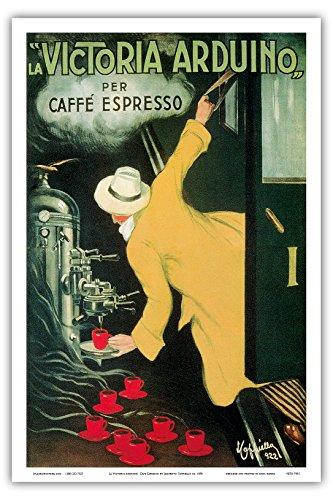 La Victoria arduino- Cafe Espresso; Jugendstil Vintage Plakat für Italienisches Kaffee Company;...