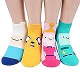 Kiss socks Animation Character Disney Series Women's Original Socks (Adventure Time(Full)_4pairs)