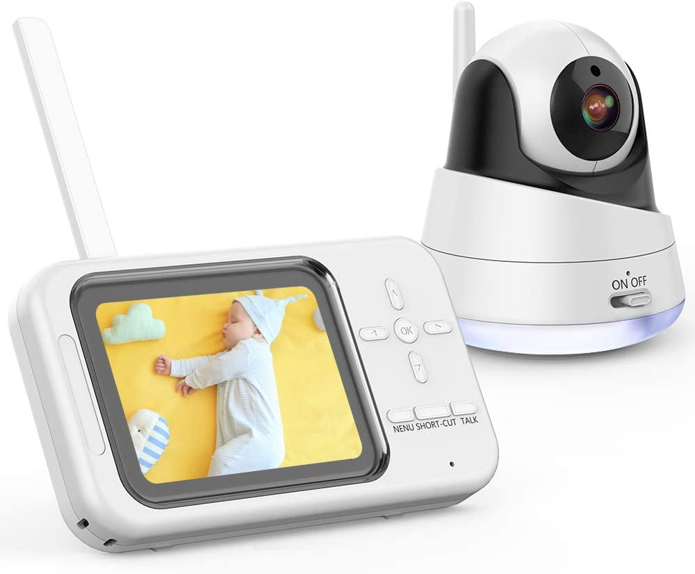 DBPOWER Video Baby Monitor with Camera and Audio, 360°Pan 3.5