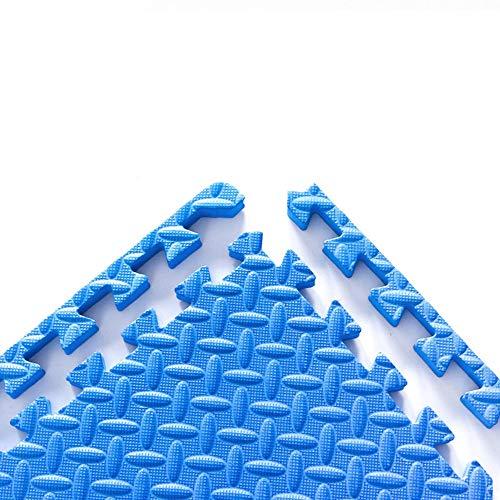 ZXPAG Estera De Espuma Alfombras Duraderas Baldosas De Espuma Fácil De Montar para Yoga Entrenamiento De Gimnasia Ejercicio Entrenamiento Físico(5 Tabletas) -,Sapphire Blue,30x30x1.2cm