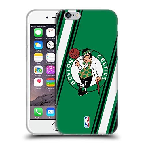 Head Case Designs Ufficiale NBA Righe Boston Celtics Cover in Morbido Gel Compatibile con Apple iPhone 6 / iPhone 6s