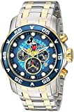 Invicta Men's Disney Limited Edition Quartz Watch with Two-Tone-Stainless-Steel Strap, 26 (Model: 23769)