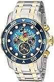 Invicta 23769 Disney Limited Edition - Mickey Mouse Reloj para Hombre acero inoxidable Cuarzo Esfera azul