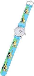 Hemobllo Kids Watches 3D Cartoon Engineering Vehicle Birthday Gift Watch Wrist Watch for Children