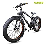 NAKTO 26 inch 300W Fat Tire Electric Bike for Adults Snow/Mountain/Beach Ebike with Shimano 6 Speed...