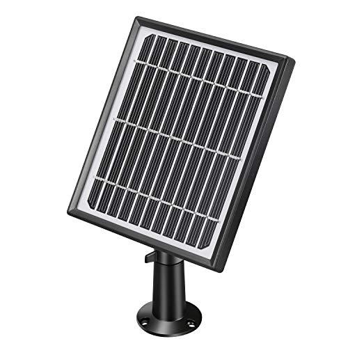 Lemnoi Solar Panel Solarzelle für lemnoi Akku WLAN Aussen Überwachungskamera, Solar Power Ladegerät mit 4 Meter Kabel Einstellbare Halterung Wetterbeständig, Schwarz