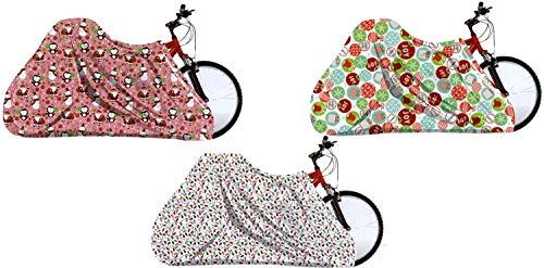 Regent Set of 3 Assorted Bags Jumbo/Giant Bike Size 60'x72'- Santa, Snowman,Snowflake (3)