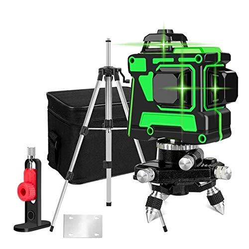 Nivel Láser 12 Líneas de Haz Verde,Se Puede Usar en Paredes,3D de Herramienta Láser de...