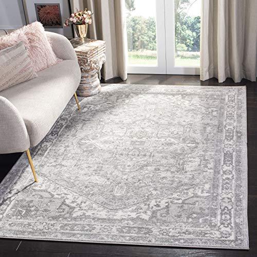 Safavieh Teppich, Polypropylen, Sahne/Grau, 120 X 180 cm