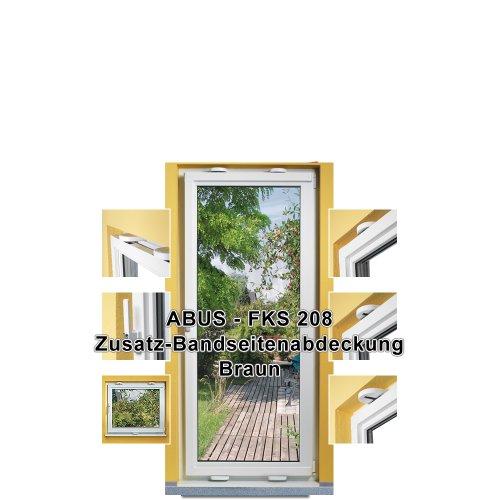 ABUS Bandseitenabdeckung FK208 für Fensterkippsicherung FKS208, braun, 44905