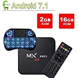 [Free Wireless Mini Keyboard] DIGOU MX Pro Android TV Box,Android 7.1 TV Box 2GB/16GB Amlogic S905W Quad core 64 Bits Smart 4K TV Box with WiFi