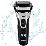 PIONEO Electric Razor for Men, Cordless Rechargeable Mens Shaver for Shaving and Trimming