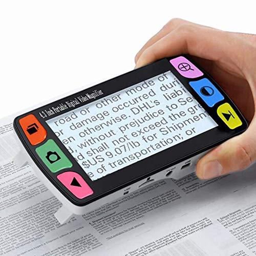 JL Elektronische Sehhilfe Mit 4.3 Zoll LCD Tragbarer Handheld 6X-16X Digital Lupe Mehrere Farbmodi Zum Lesen, Schreiben, Anzeigen Von Karten, Büchern
