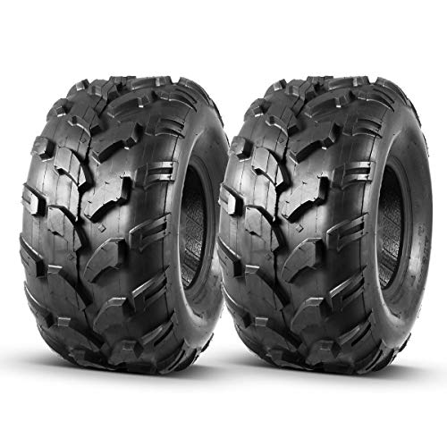 Set of 2 MaxAuto ATV Tires 20X9.50-8 20X9.5X8 Riding Mower Turf Tires for trx 90 kfx 90, 4 Ply Rating, Tubeless