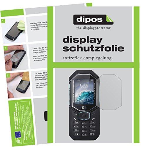 dipos I 6X Schutzfolie matt kompatibel mit Crosscall Shark-X3 Folie Bildschirmschutzfolie